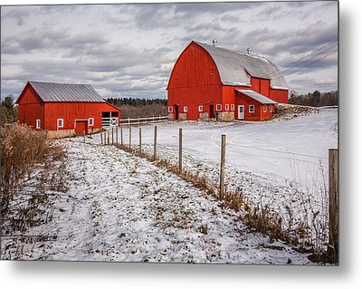 Barns Of New York Metal Print by Everet Regal