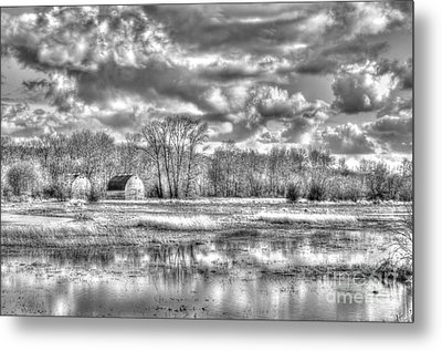 Barns On The Delta 2 Metal Print