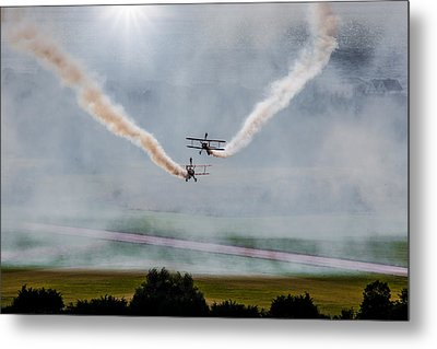 Metal Print featuring the photograph Barnstormer Late Afternoon Smoking Session by Chris Lord