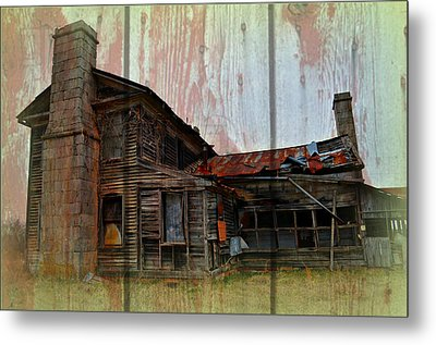 Barnwood Mansion Metal Print by Marty Koch