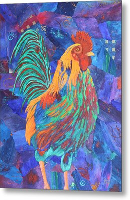 Barnyard Dude Metal Print by Nancy Jolley