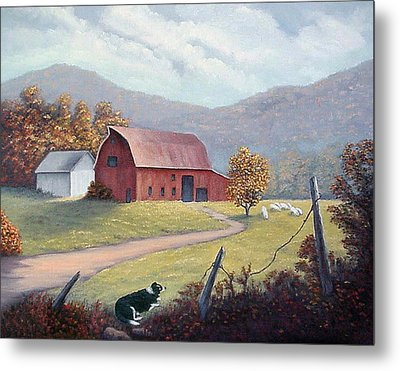 Barnyard Sentinel Metal Print by Fran Brooks