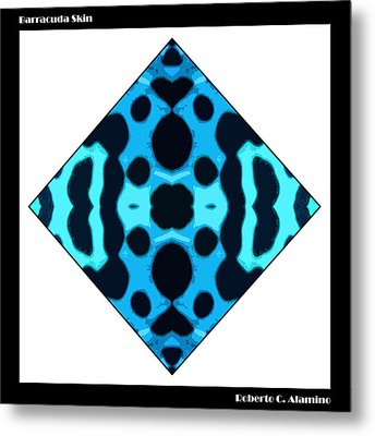 Barracuda Skin Metal Print by Roberto Alamino