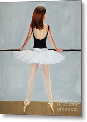 Metal Print featuring the painting Barre by Cynthia Parsons