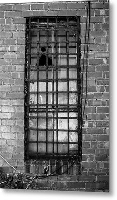 Barred Window Metal Print