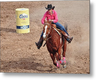 Metal Print featuring the photograph Barrel Rider by Barbara Manis