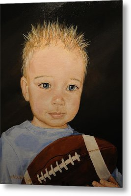 Metal Print featuring the painting Barrett by Alan Lakin