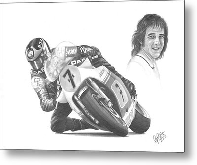 Barry Sheene Mbe Metal Print