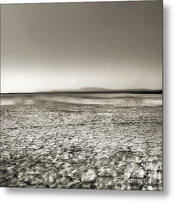 Barstow Dry Lake Bed  Metal Print by Gregory Dyer
