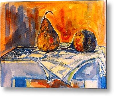 Bartlett Pears Metal Print by Kendall Kessler
