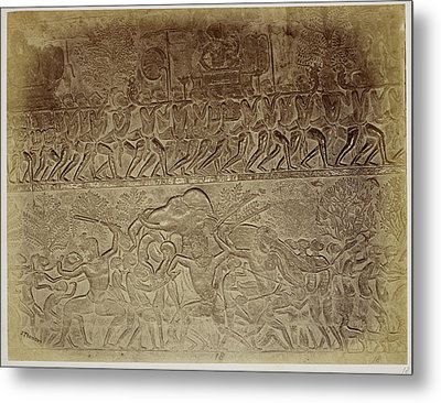 Bas-relief Metal Print by British Library
