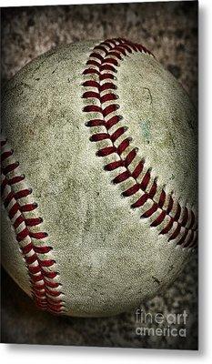 Baseball - A Retired Ball Metal Print