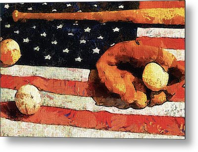Baseball An American Tradition Metal Print by Dan Sproul