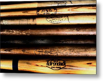 Baseball Bats Metal Print by Bill Cannon