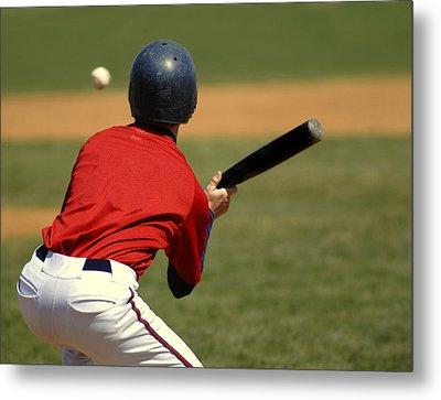 Baseball Batter Metal Print by Lane Erickson