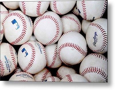 Baseball Color Metal Print