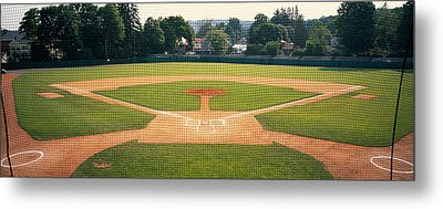 Baseball Diamond Looked Metal Print