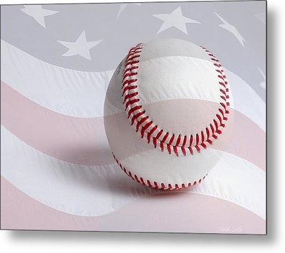 Baseball Metal Print by Heidi Smith