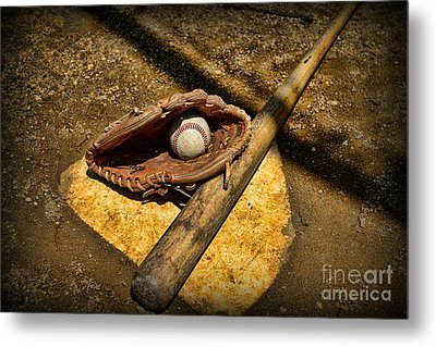 Baseball Home Plate Metal Print