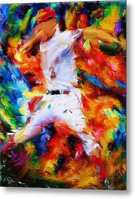 Baseball  I Metal Print by Lourry Legarde