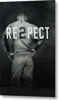 Baseball Metal Print by Jewels Blake Hamrick