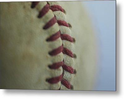 Baseball Macro 2 Metal Print