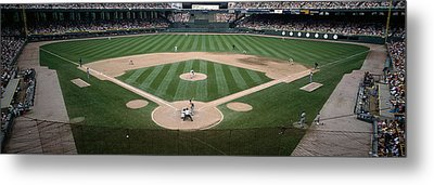 Baseball Match In Progress, U.s Metal Print by Panoramic Images