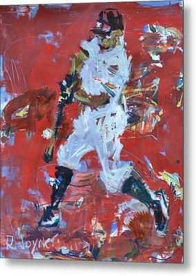 Baseball Painting Metal Print by Robert Joyner