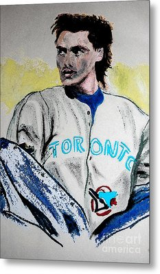 Baseball Player Metal Print by First Star Art
