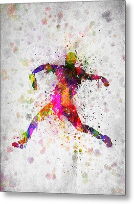 Baseball Player - Pitcher Metal Print by Aged Pixel