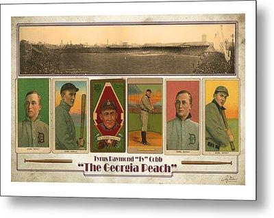 Baseball Player Ty Cobb Metal Print by Craig Tinder