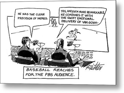 Baseball Reaches For The Pbs Audience: Metal Print by Mischa Richter
