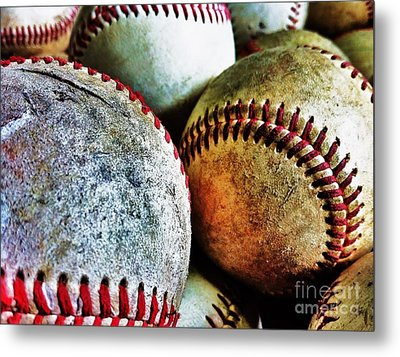 Baseball Metal Print by Ronnie Glover
