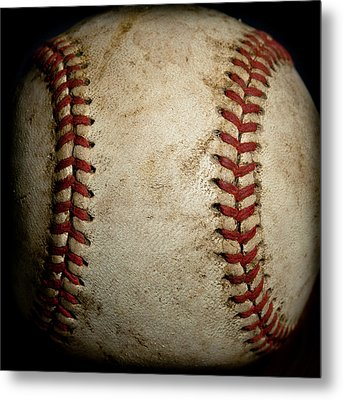 Baseball Seams Metal Print by David Patterson