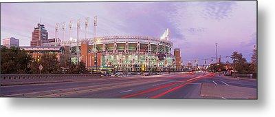 Baseball Stadium At The Roadside Metal Print by Panoramic Images