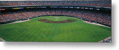 Baseball Stadium, San Francisco Metal Print by Panoramic Images