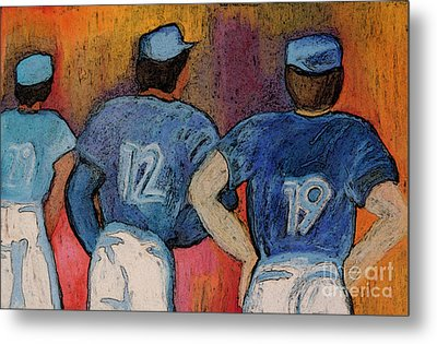 Baseball Team By Jrr  Metal Print by First Star Art