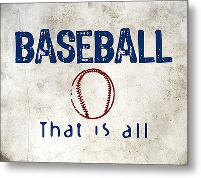 Baseball That Is All Metal Print