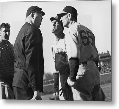 Baseball Umpire Dispute Metal Print