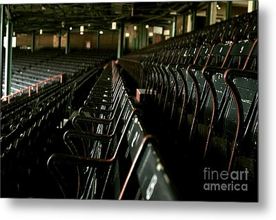Baseball's Classic Bostons Fenway Park Seats Metal Print