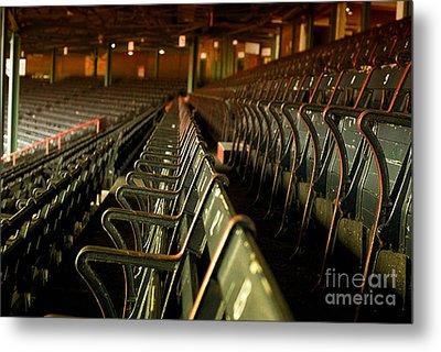 Baseball's Classic Bostons Fenway Park Vintage Seats Metal Print