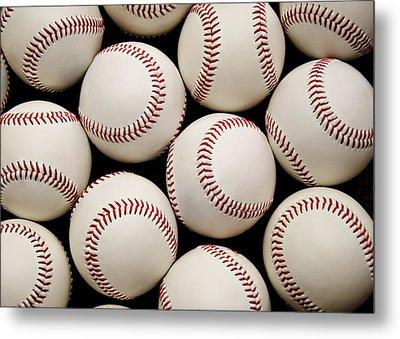 Baseballs Metal Print by Ricky Barnard