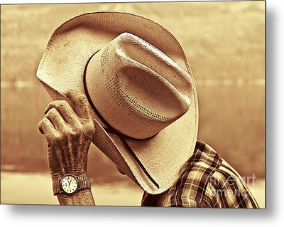 Bashful Metal Print by Sandi Mikuse
