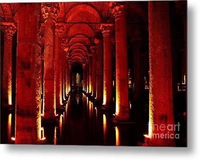 Basilica Cistern Metal Print by Emily Kay