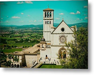 Basilica Of San Francesco Assisi  Metal Print by Raimond Klavins