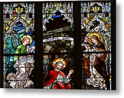 Basilica Stained Glass 1 Metal Print