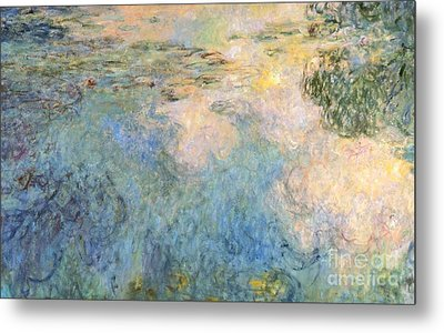 Basin Of Water Lilies Metal Print by Claude Monet