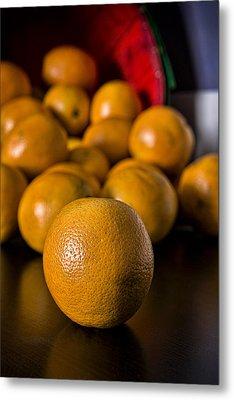 Basket Of Oranges Metal Print by Jeff Burton