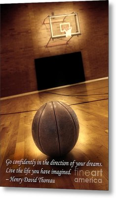 Basketball And Success Metal Print by Lane Erickson