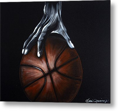 Basketball Legend Metal Print by Dani Abbott